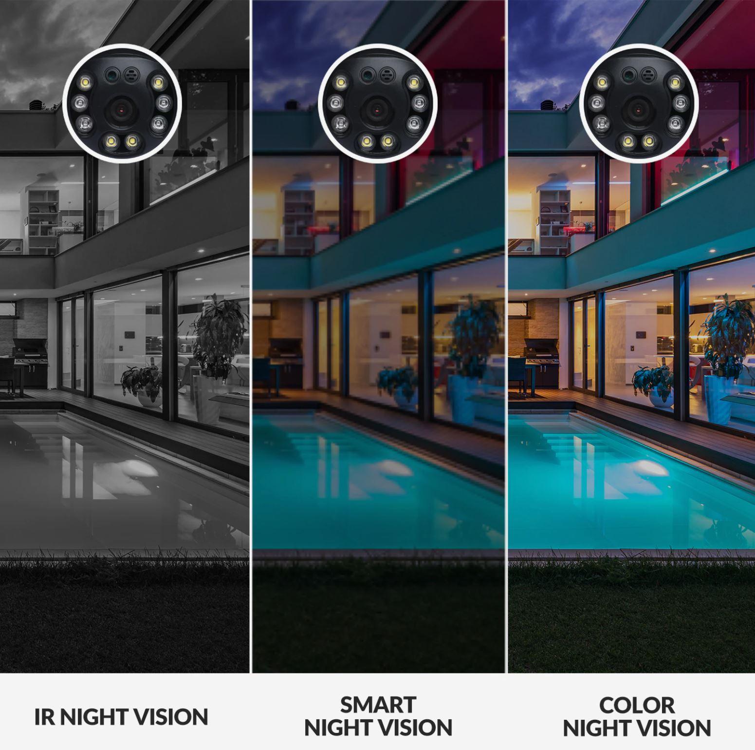 kamera zewnętrzna IP - YI PTZ 1080p - widoczność w nocy