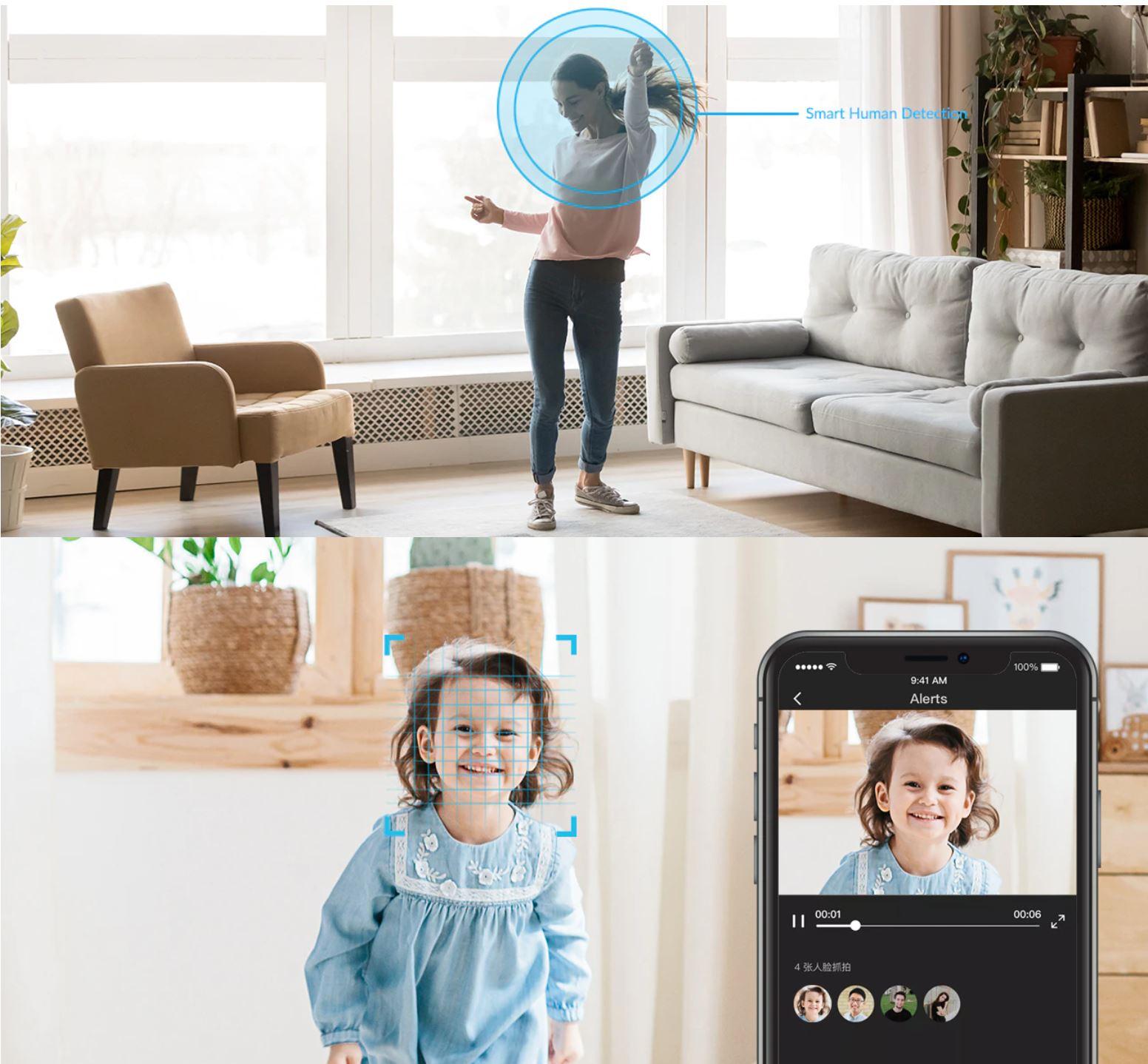 YI Dome U - nowość z Aliexpress - rozpoznawanie twarzy przez kamerę IP