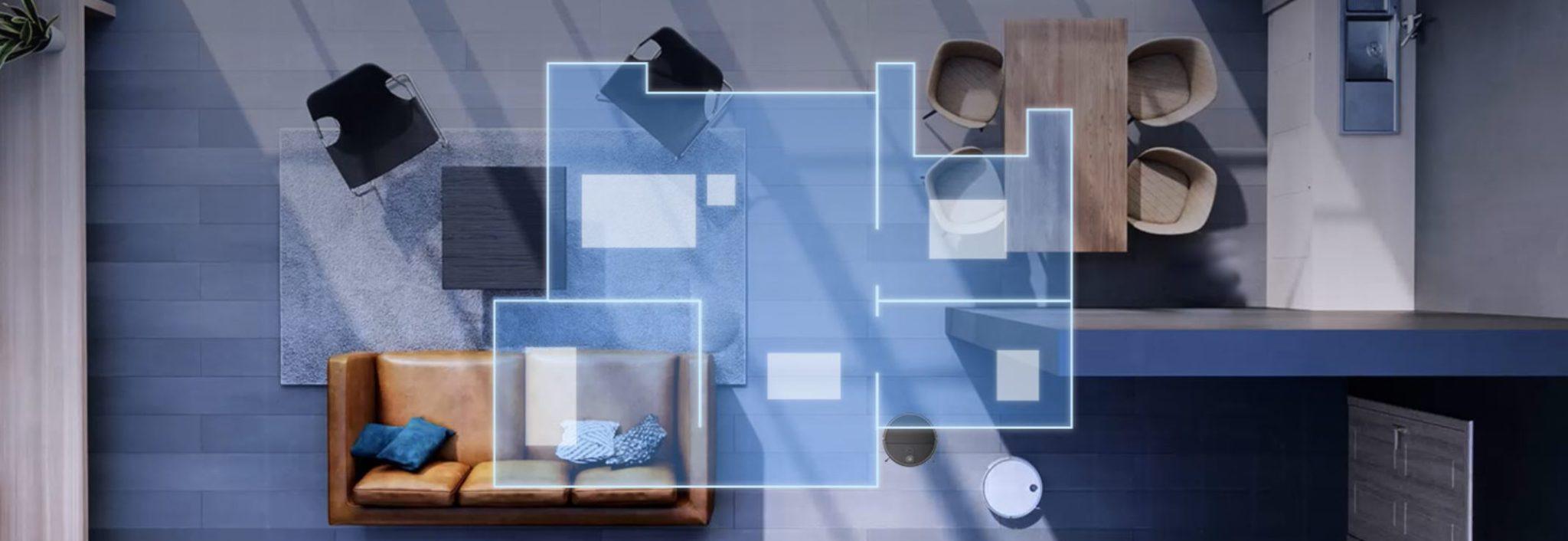 360 S10 - nowy robot sprzątający na rynku - mapowanie