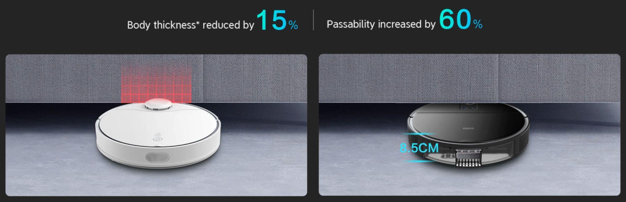 360 S10 - nowy robot sprzątający na rynku - wysokość