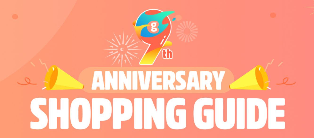 9. urodziny geekbuying - przewodnik po promocji