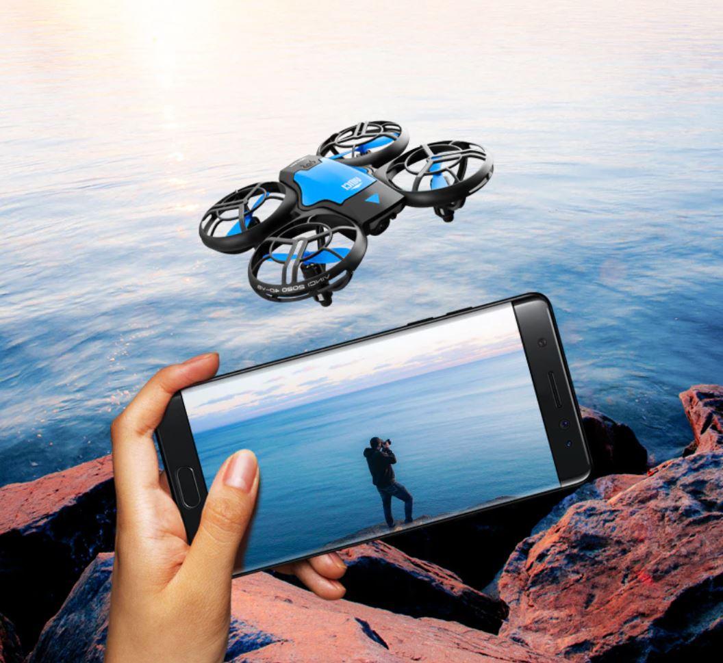 Drony od 50 zł i inne zabawki dla dużych chłopców w promocji Aliexpress - V8 Mini Drone