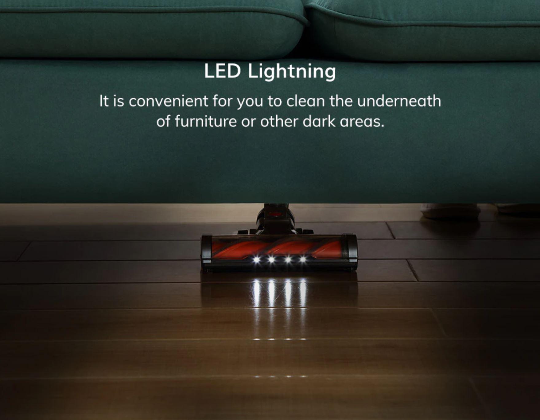 elektroszczotka od Easine by iLife H75 - podświetlenie