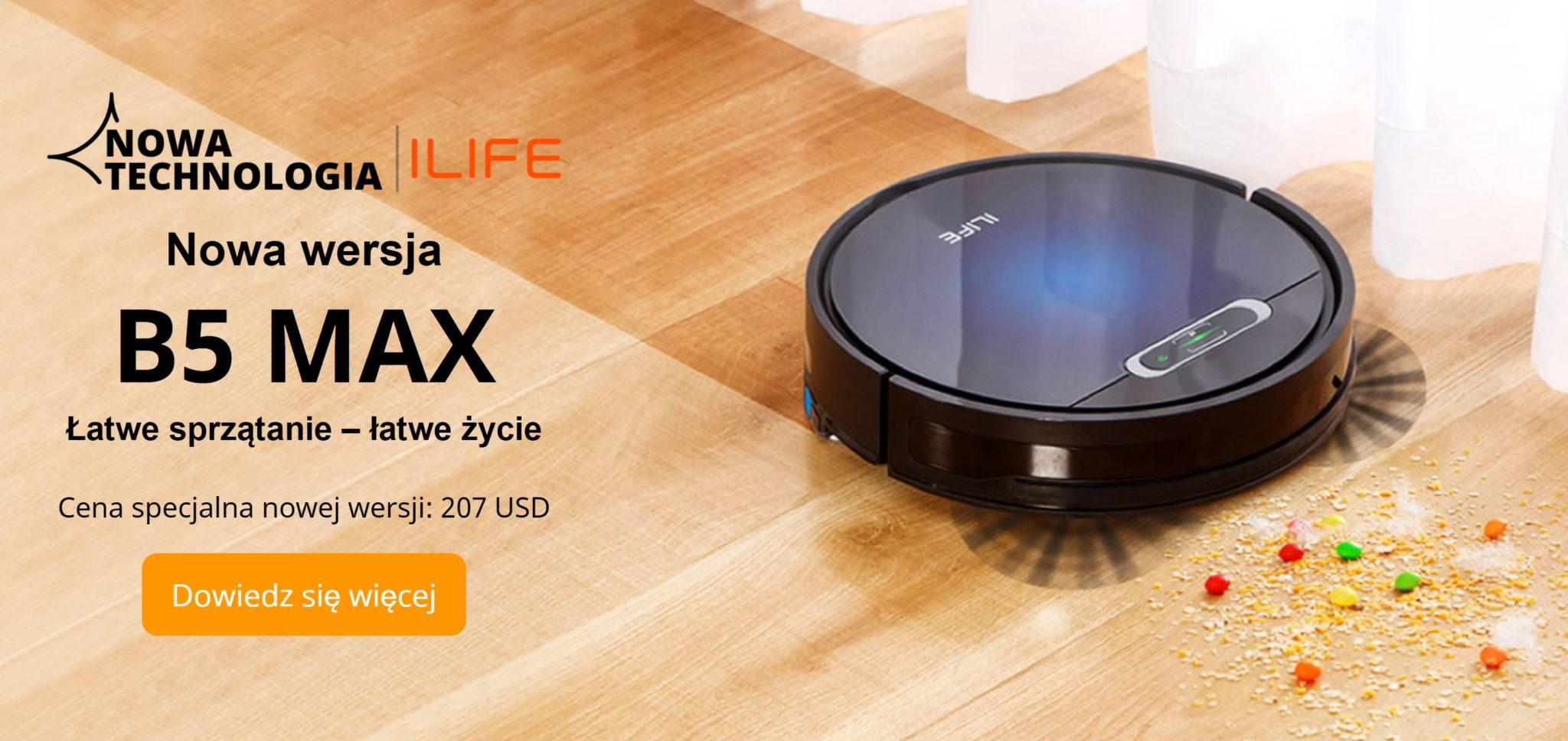 iLife B5 MAX - nowy robot sprzątający iLife już na Aliexpress