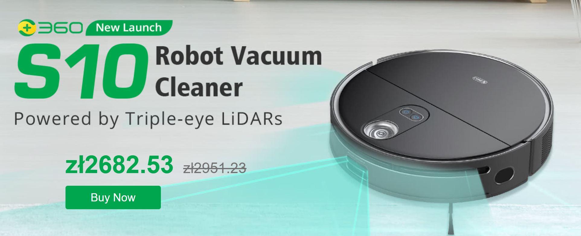 360 S10 - nowy robot sprzątający na rynku i aż 420 zł rabatu dla czytelników