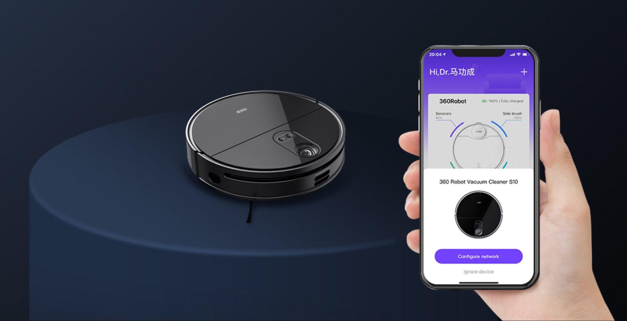 360 S10 - nowy robot sprzątający na rynku - sterowanie aplikacją