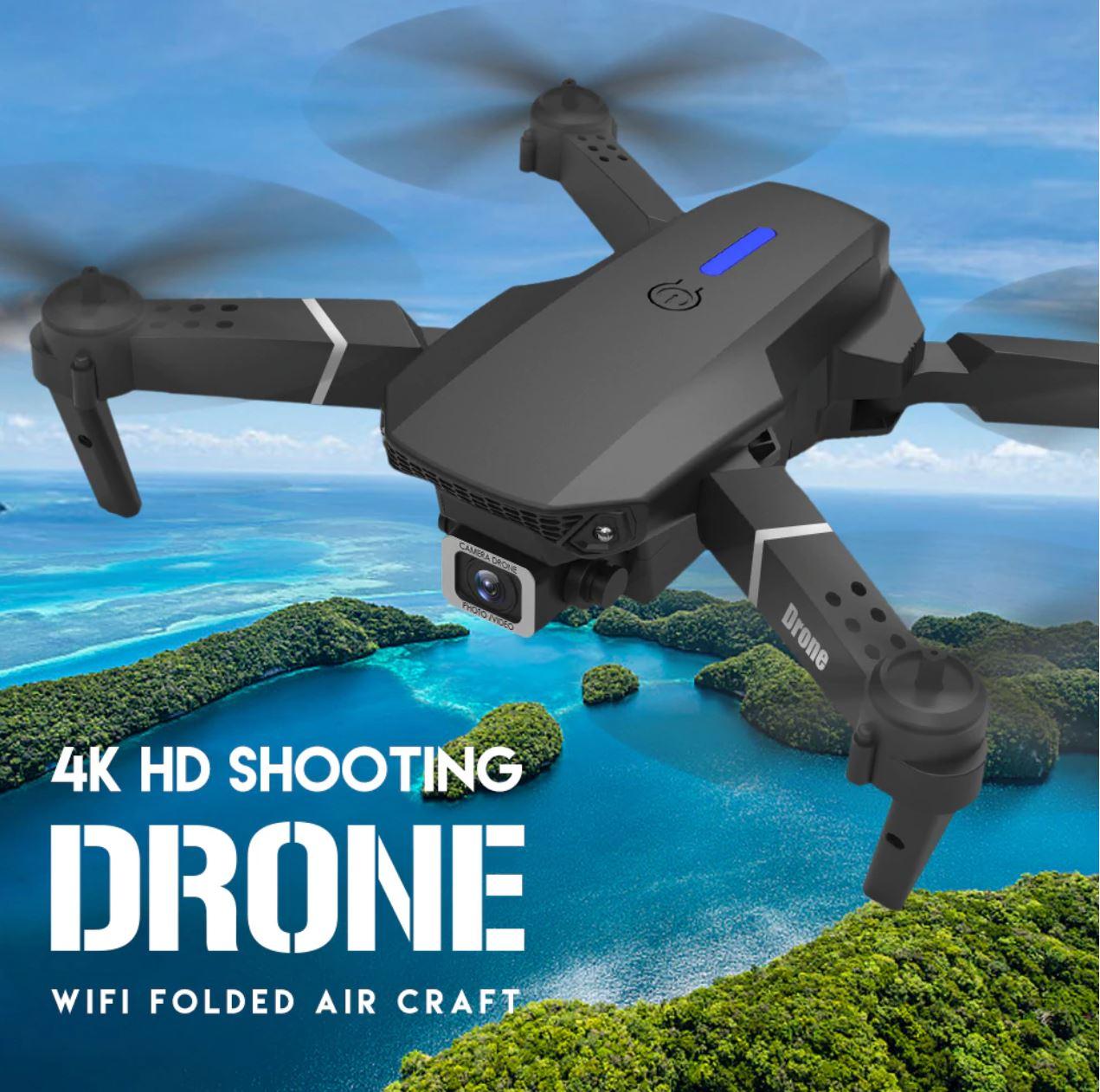 Drony od 50 zł i inne zabawki dla dużych chłopców w promocji Aliexpress - XKJ E88 Pro