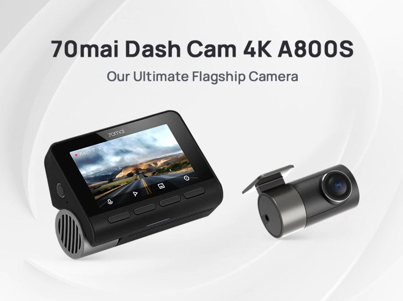 Dzień Ojca z Aliexpress - pomysły na prezent dla faceta - kamera samochodowa 70mai Dash Cam 4K A800S