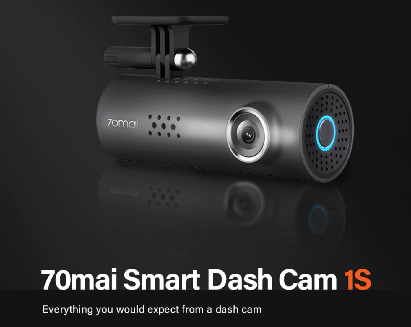 Dzień Ojca z Aliexpress - pomysły na prezent dla faceta - kamera samochodowa 70mai Smart Dash Cam 1S
