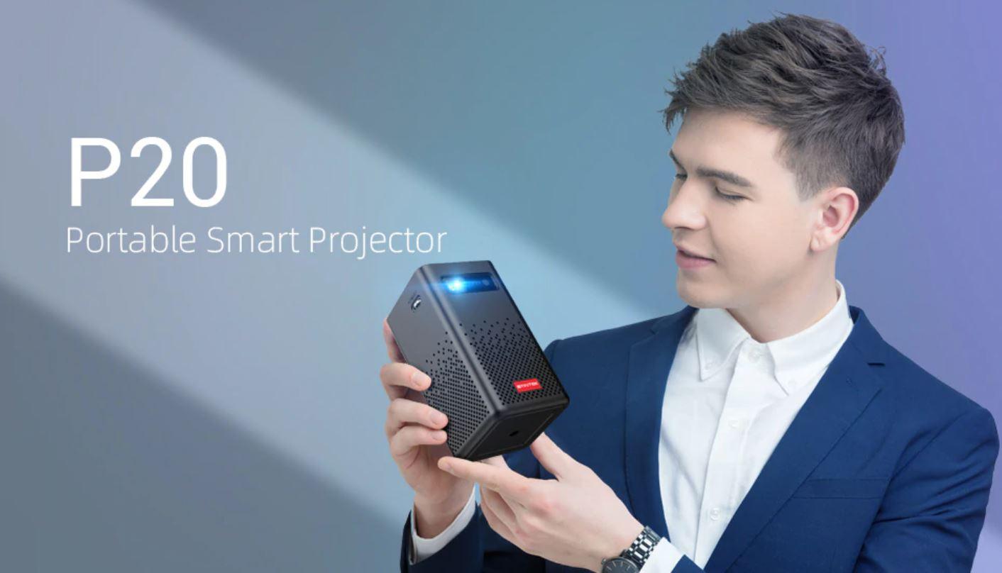 Kino domowe z Aliexpress - projektor BYINTEK P20 Portable Smart Projector - kieszonkowy projektor