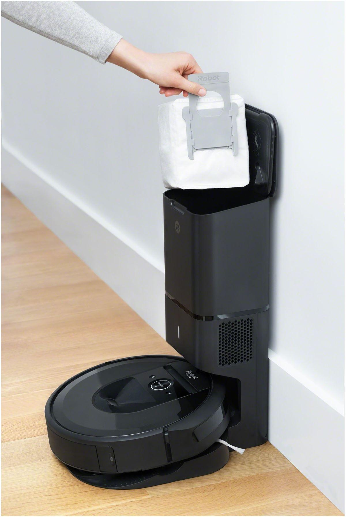 Najpopularniejsze roboty sprzątające - TOP 10 - iRobot Roomba i7 - stacja na kurz - iRobot Roomba i7+