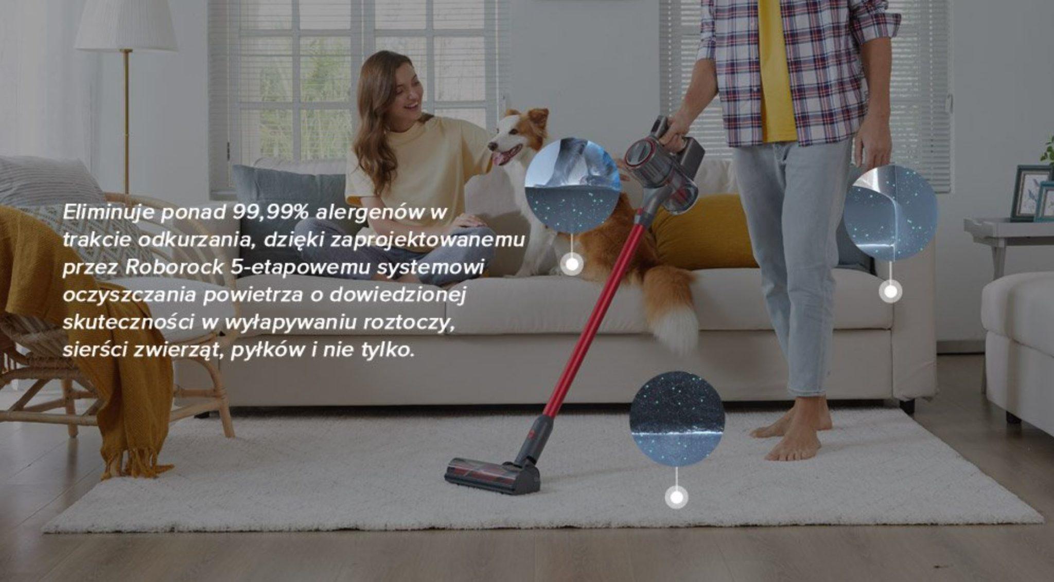 Roborock H7 w promocji geekbuying.pl - walka z roztoczami - odkurzacz dla alergików