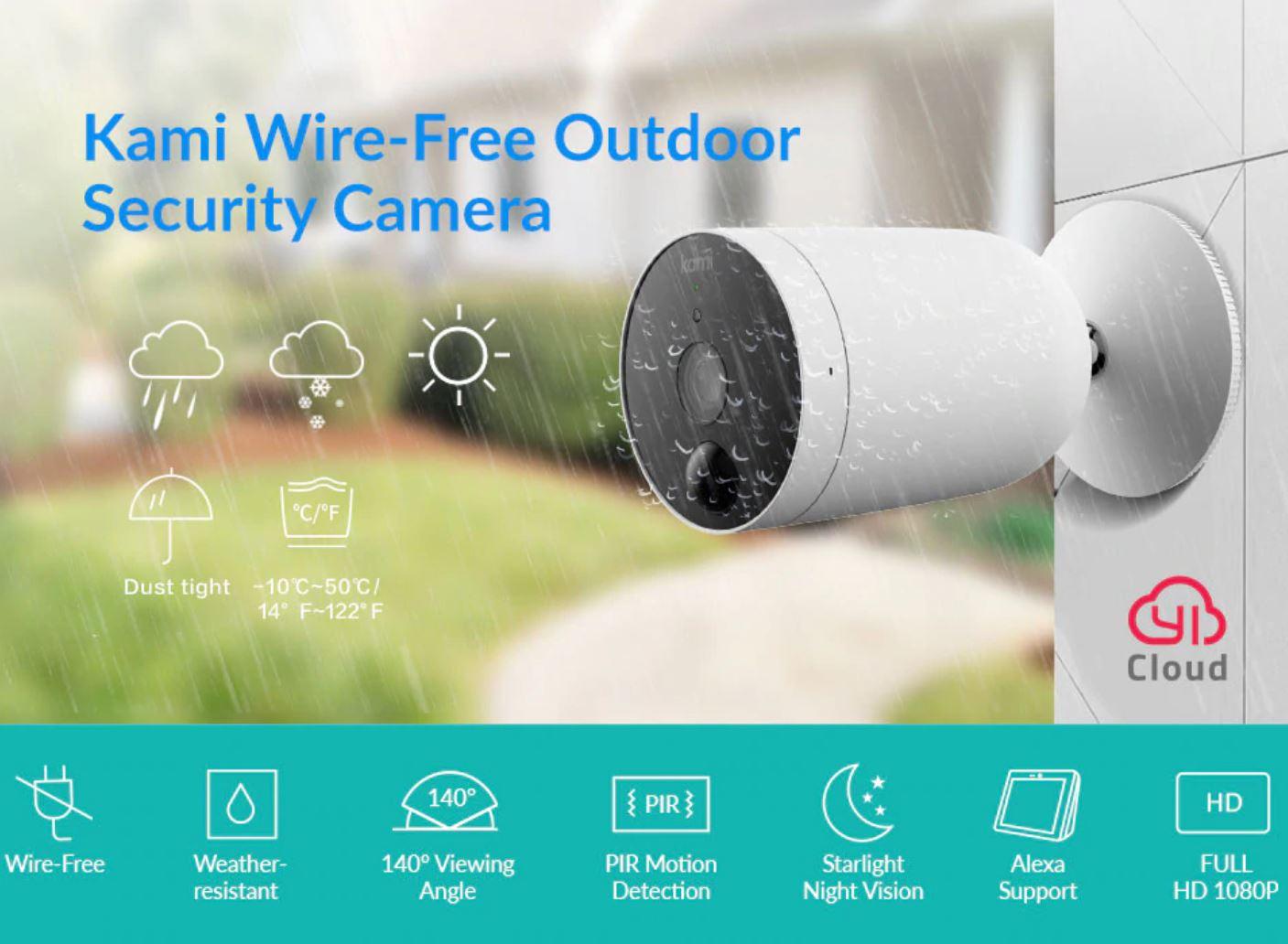 Smart Dom z Aliexpress - kamery do monitoringu w letniej wyprzedaży - YI Kami Wire-Free Outdoor Security Camera