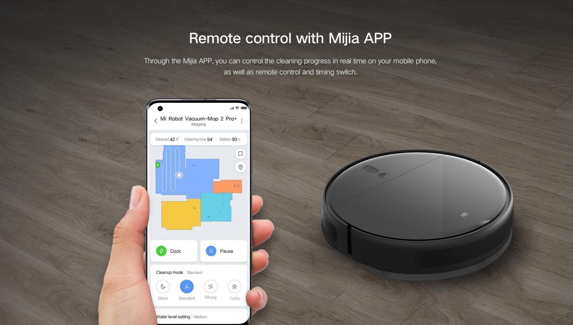 Xiaomi Mi Robot Vacuum Mop 2 Pro + w rewelacyjnej promocji na Aliexpress - obsługa przez aplikację Xiaomi Home Mijia