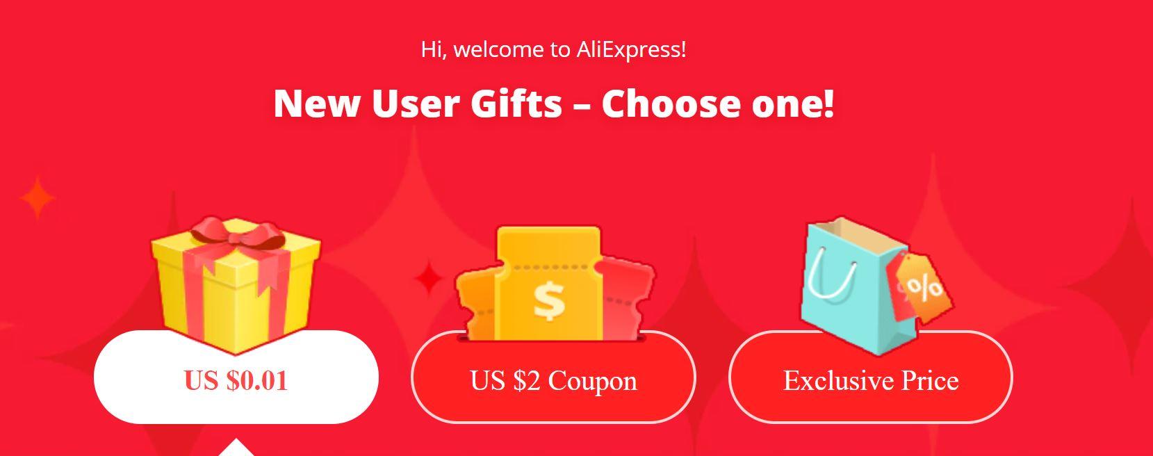 Promocja dla nowych użytkowników Aliexpress