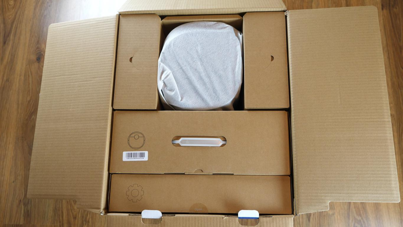 Recenzja Ecovacs Deebot T8+ - pudła, unboxing