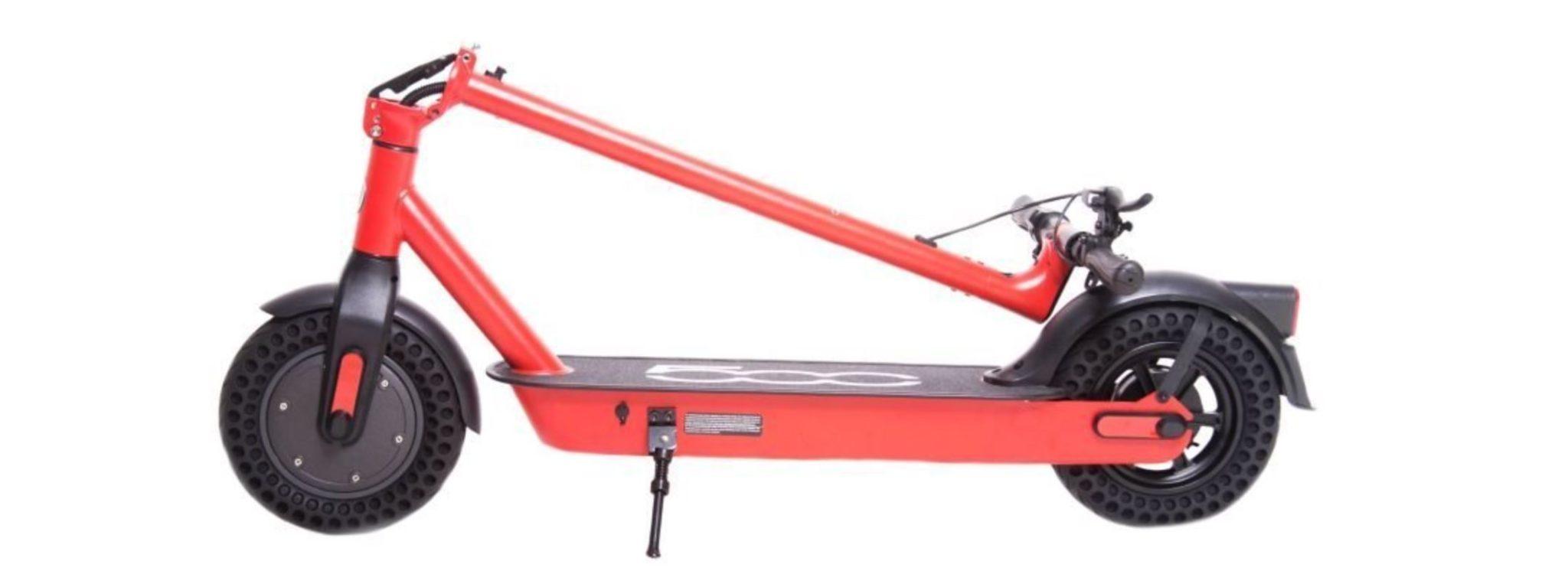 TOP 10 hulajnóg elektrycznych - ranking - Fiat F10 500 - czerwona