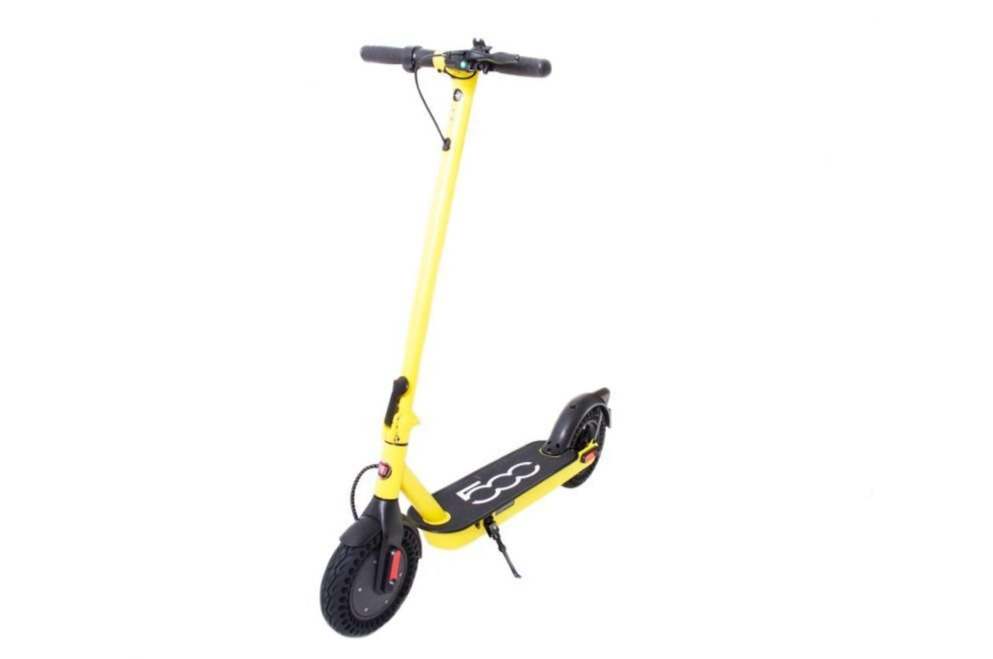 TOP 10 hulajnóg elektrycznych - ranking - Fiat F10 500 - żółta