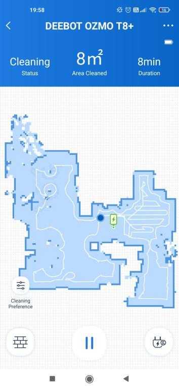 aplikacja ECOVACS - robienie mapy przez robota Deebot OZMO T8