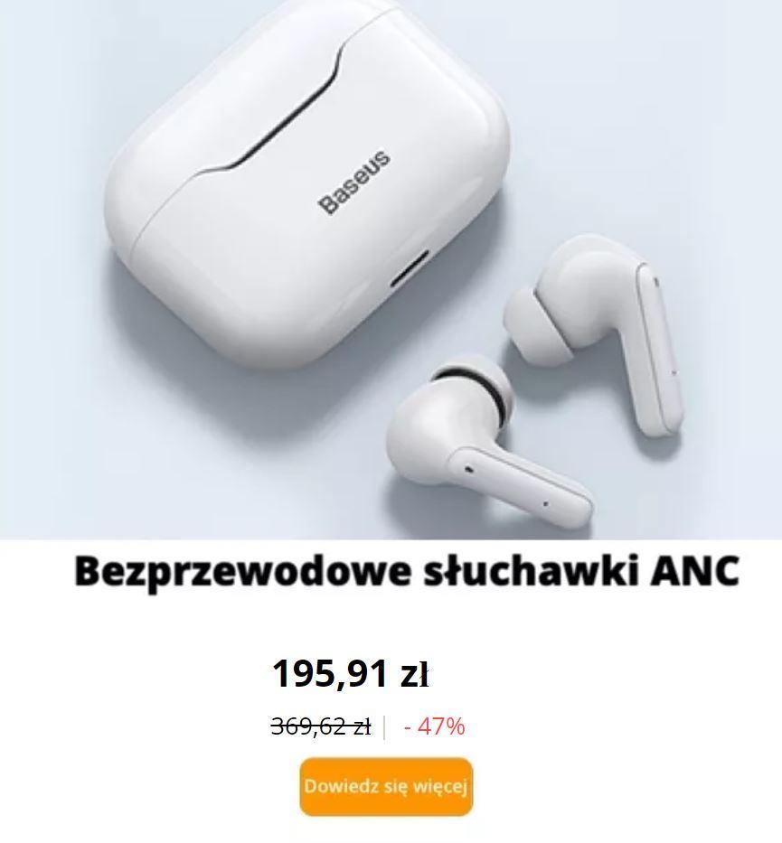 Baseus - świeto marki AliExpress - słuchawki Bluetooth