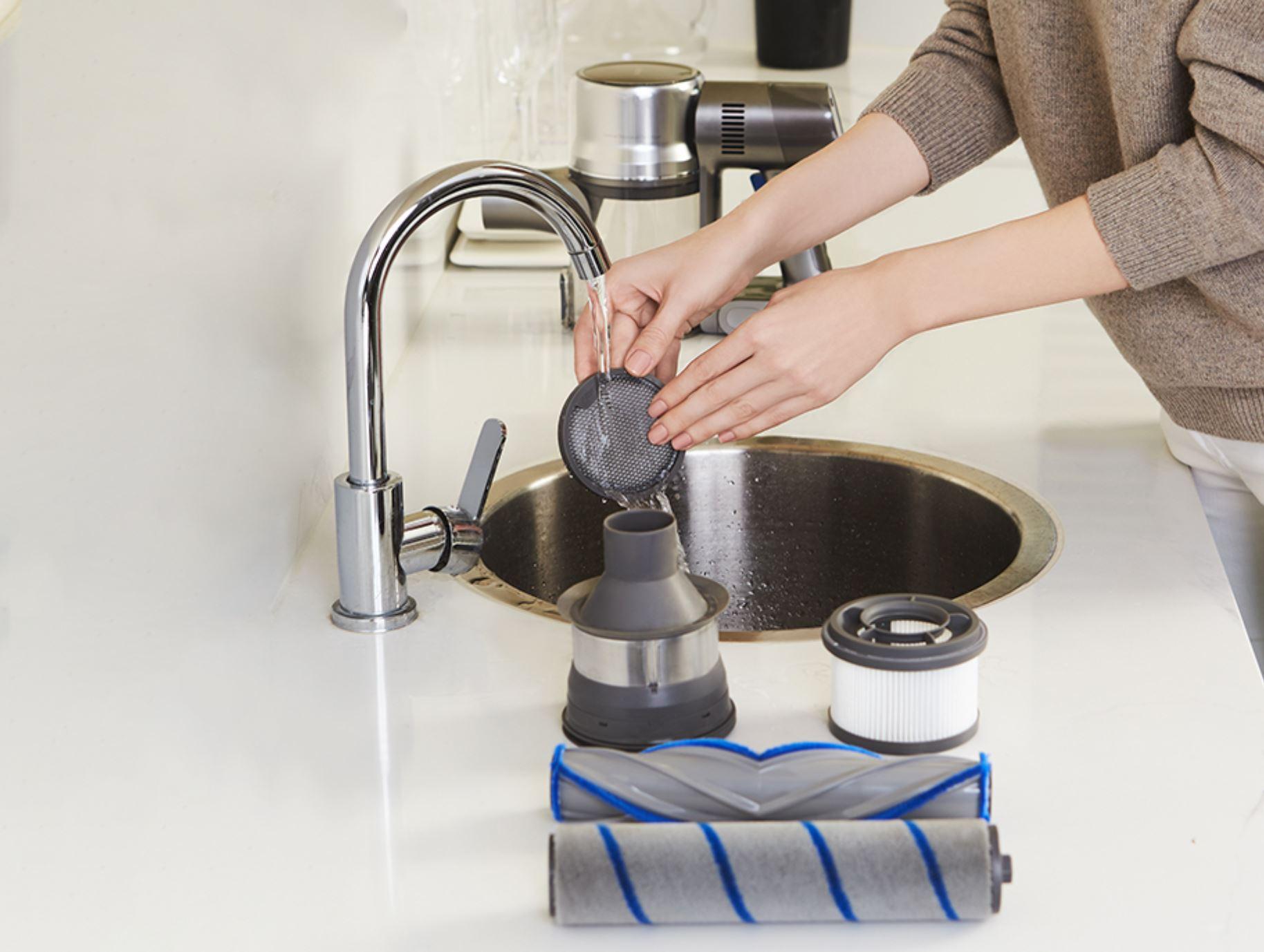 Dreame T20 Pro - mycie filtrów