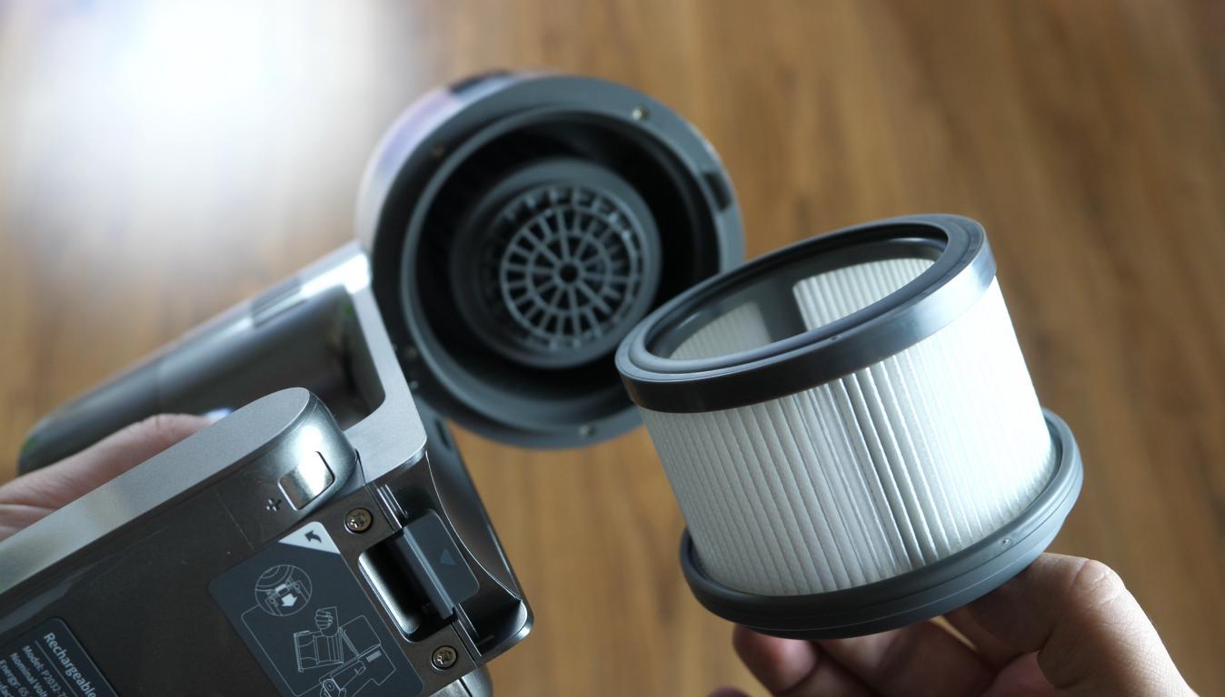Dreame T20 Pro - recenzja - filtr HEPA