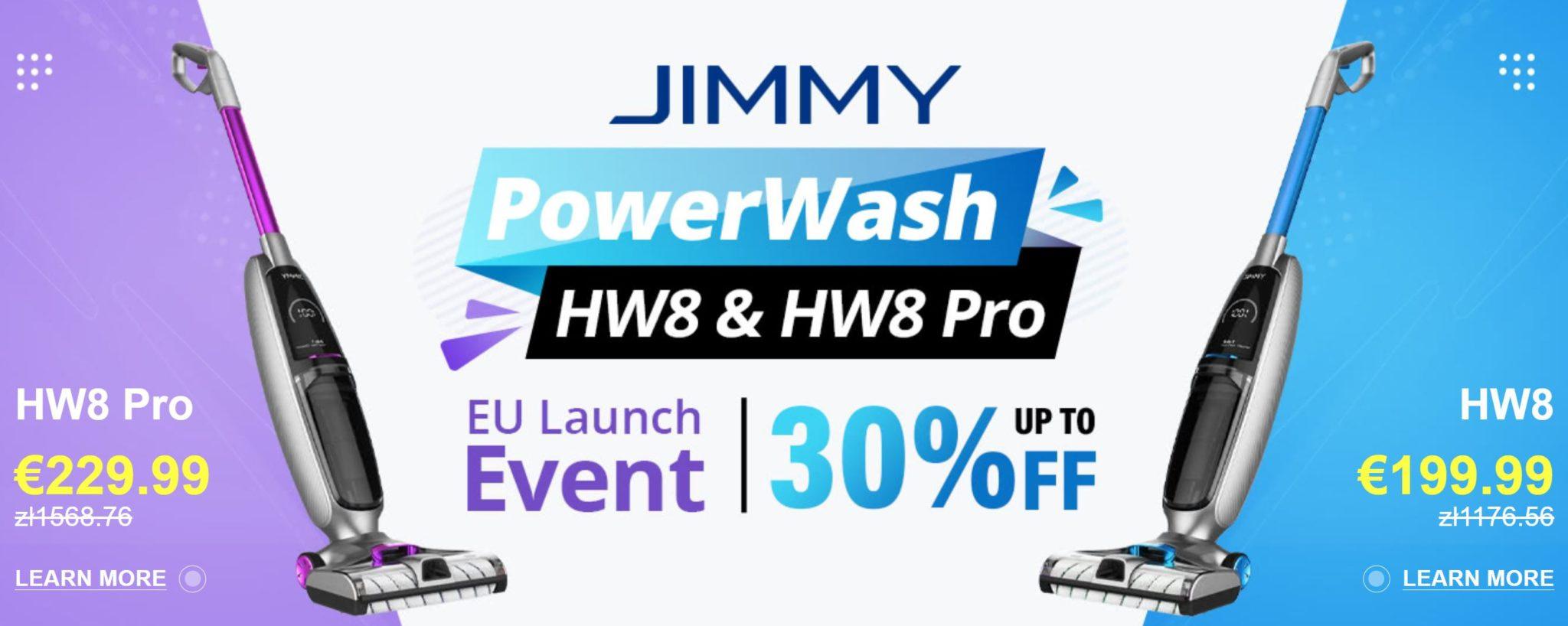 JIMMY PowerWash HW8 i HW8 PRO już w Europie - rabat do 30%