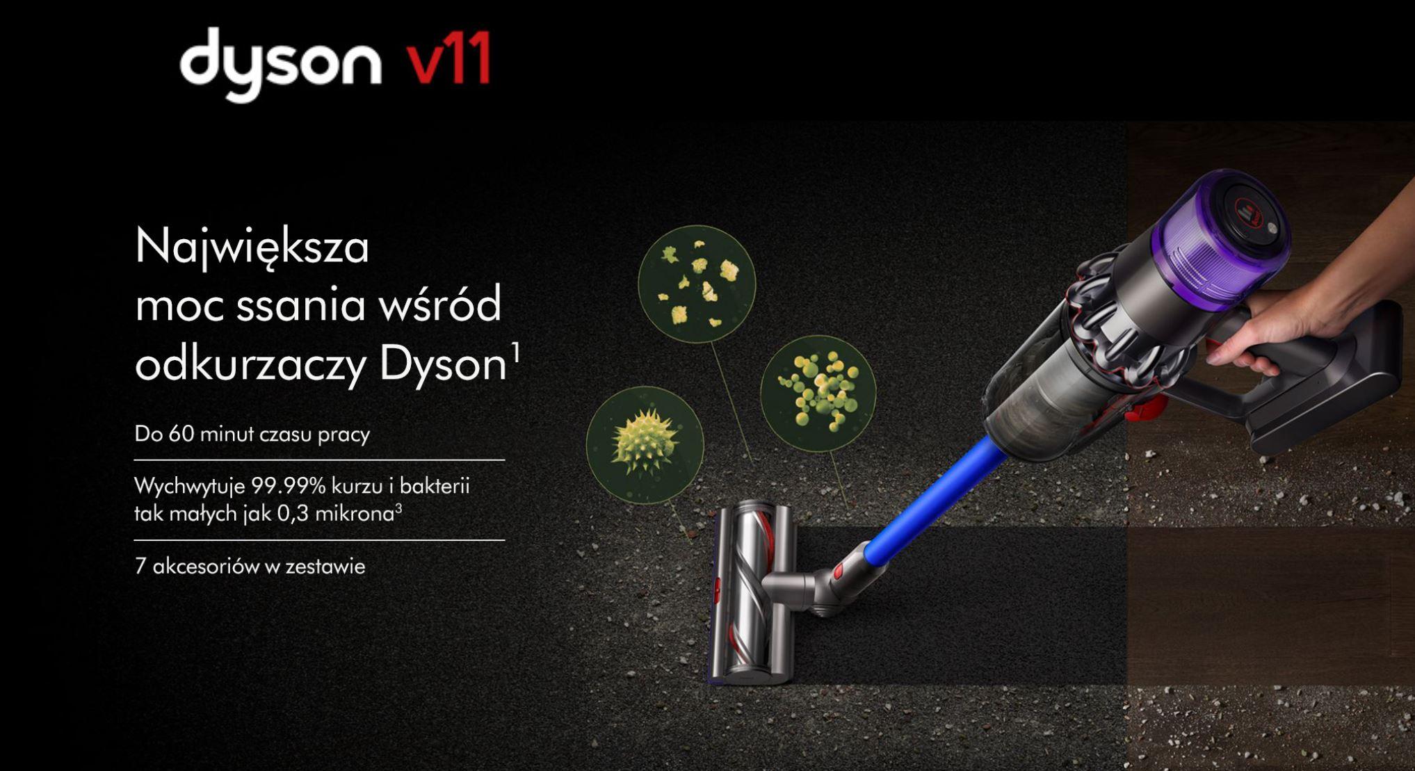 Najlepiej oceniane odkurzacze pionowe - ranking TOP 10 - Dyson V11