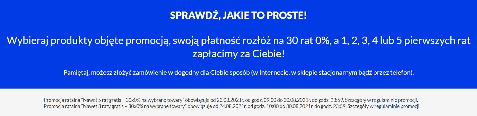 Promocja z ratami na RTV EUro AGD - laptop na raty w promocji