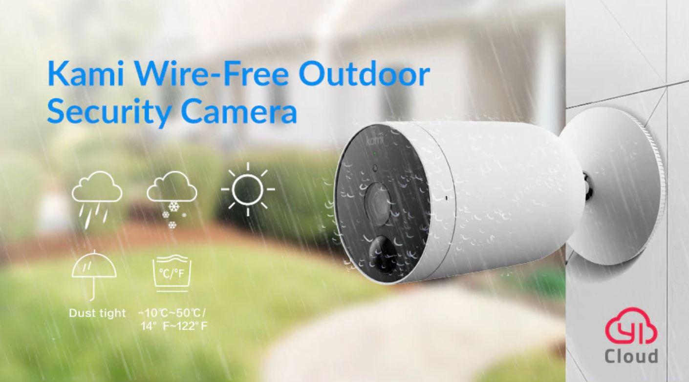 Sezonowe czyszczenie magazynów AliExpress - kamera do minotiringu IP - Kami Wire-Free Outdoor