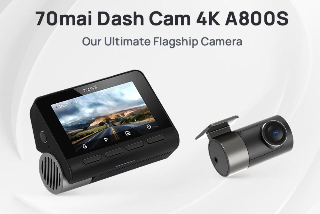 artykuły motoryzacyjne - promocja AliExpress - kamera samochodowa 70mai Dash Cam 4K A800S
