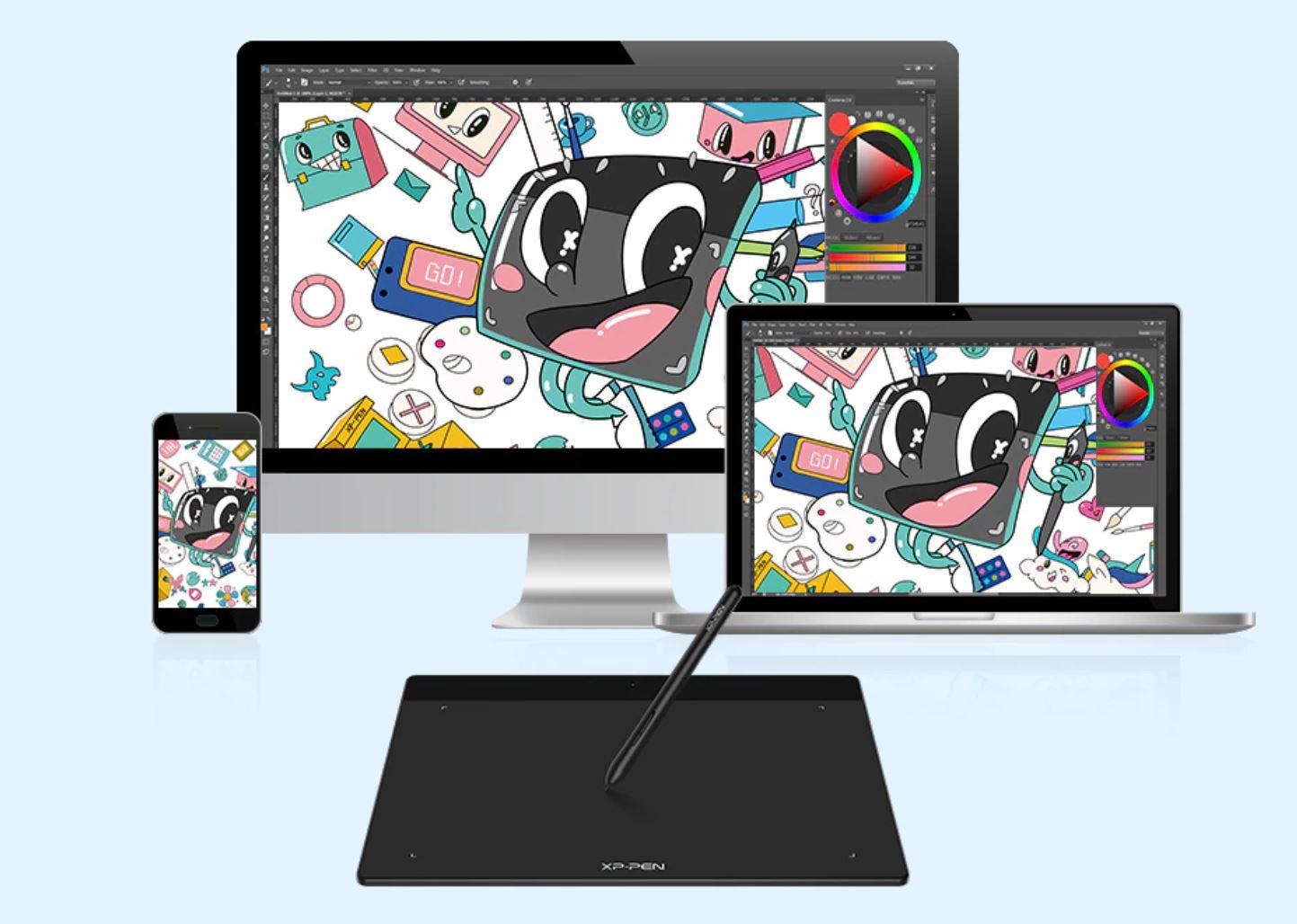 komputer i akcesoria biurowe - promocja AliExpress - XP Pen Deco Fun Tablet graficzny