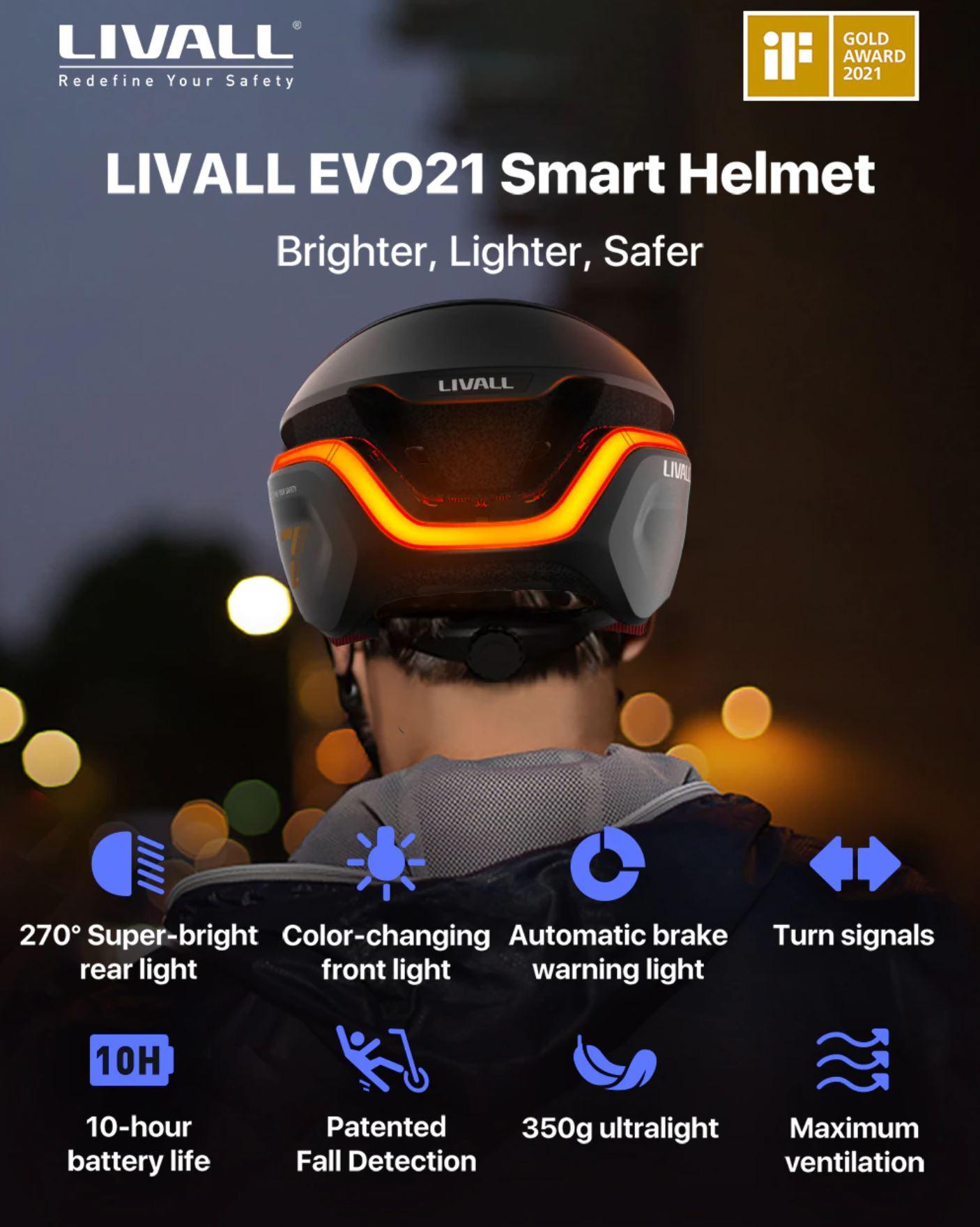 nowe produkty Aliexpress - LIVALL EVO21 inteligentny kask