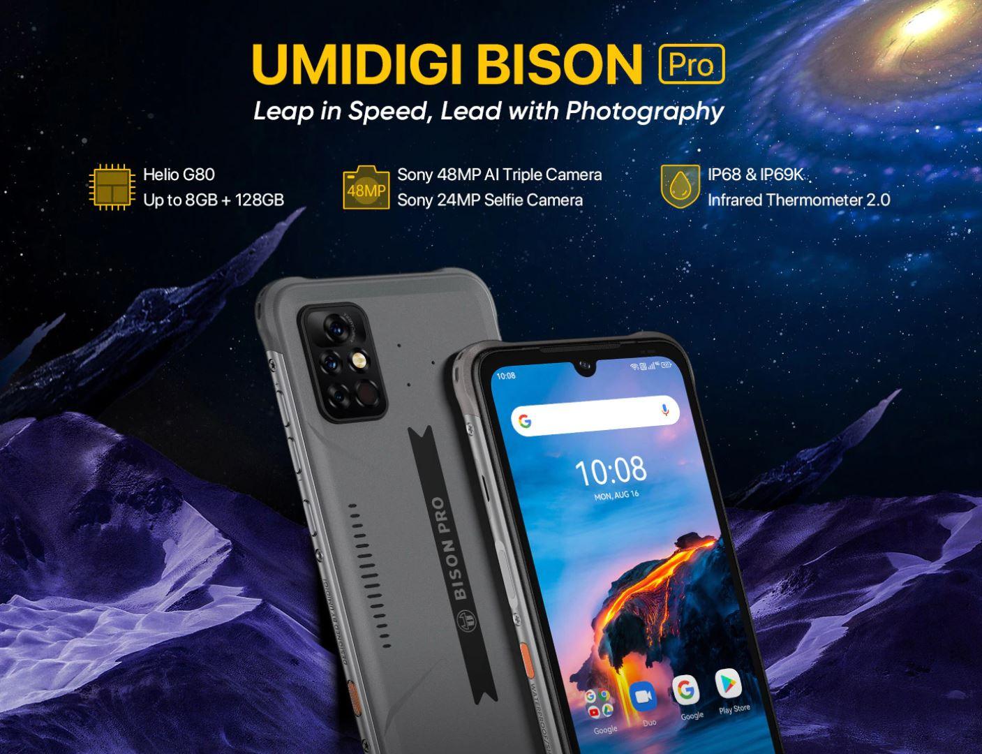 nowe produkty Aliexpress - Umidigi Bison Pro - nowy smartfon rugged