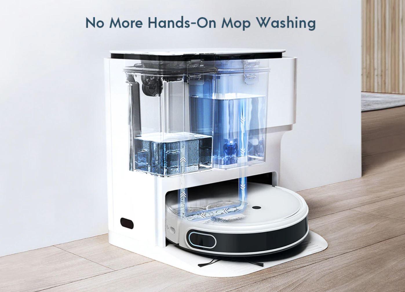 nowe produkty Aliexpress - yeedi mop station - robot sprzątający ze stacją na kurz i zbiornikiem na wodę