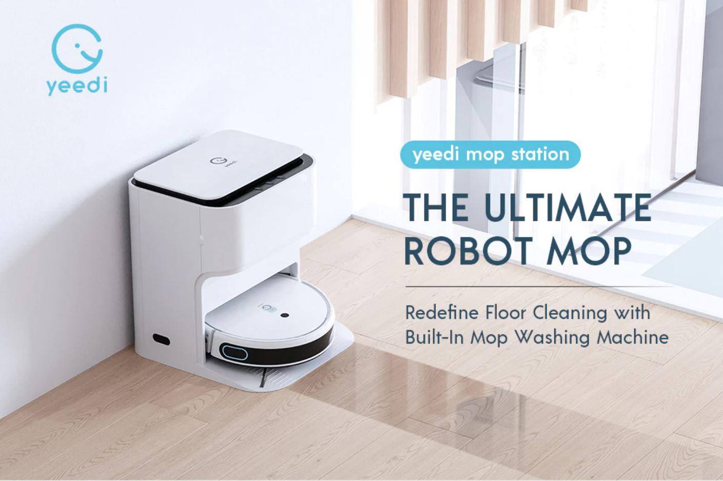 nowe produkty Aliexpress - yeedi mop station - robot sprzątający ze stacją na kurz