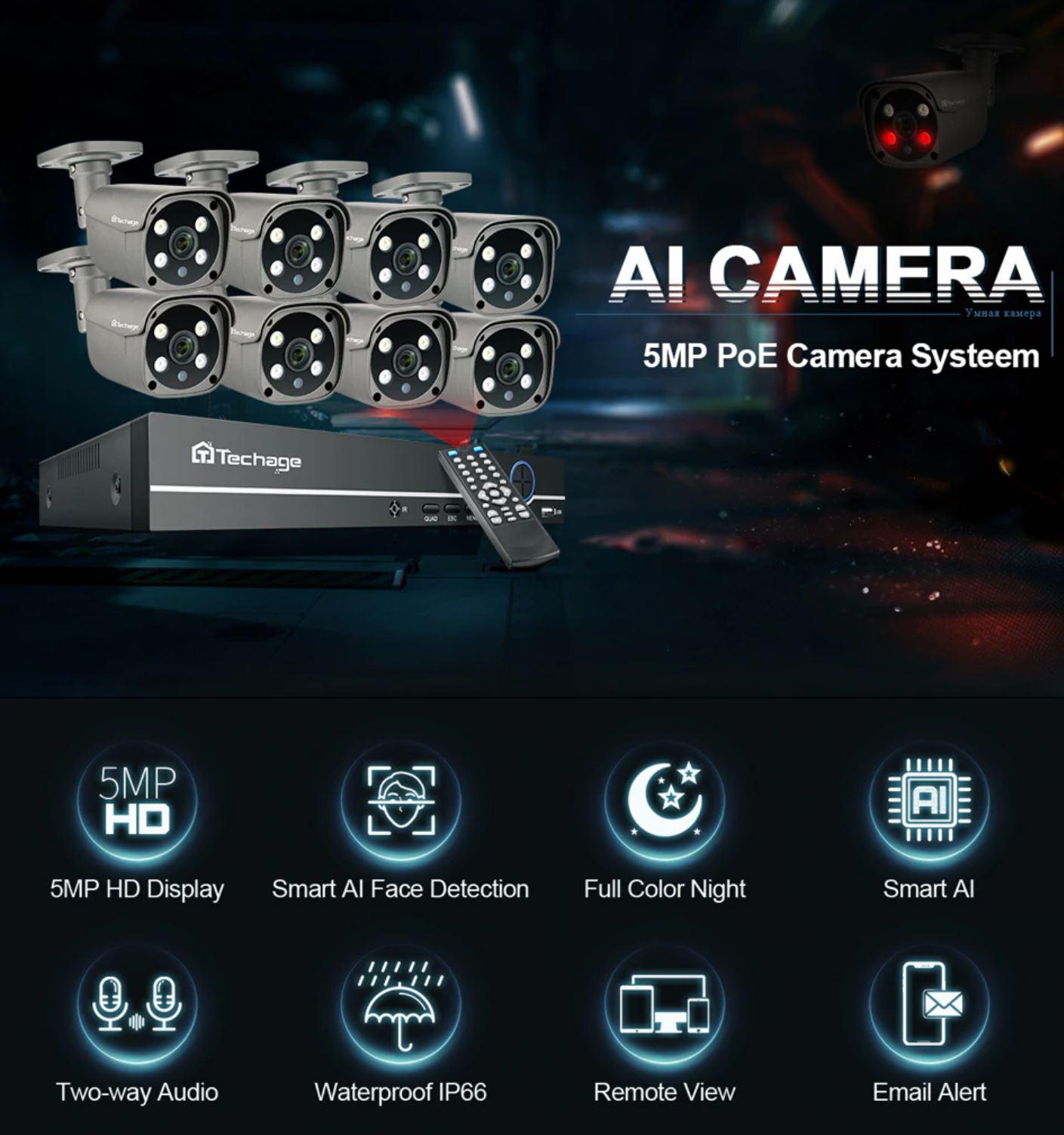 promnocja kamer IP z Aliexpress - Techage Security Camera