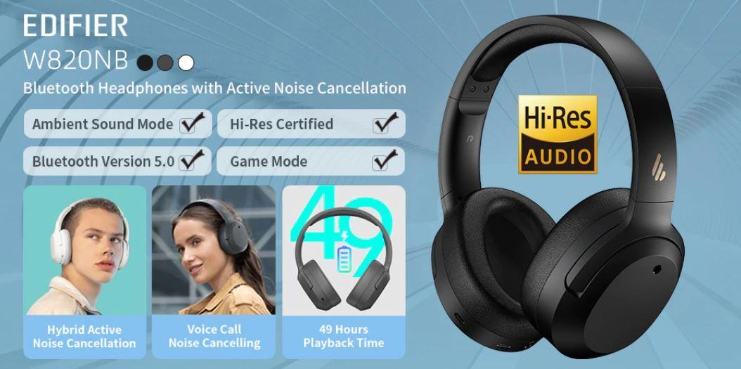 słuchawki Bluetooth z Aliexpress - Edifier W820NB - słuchawki nauszne