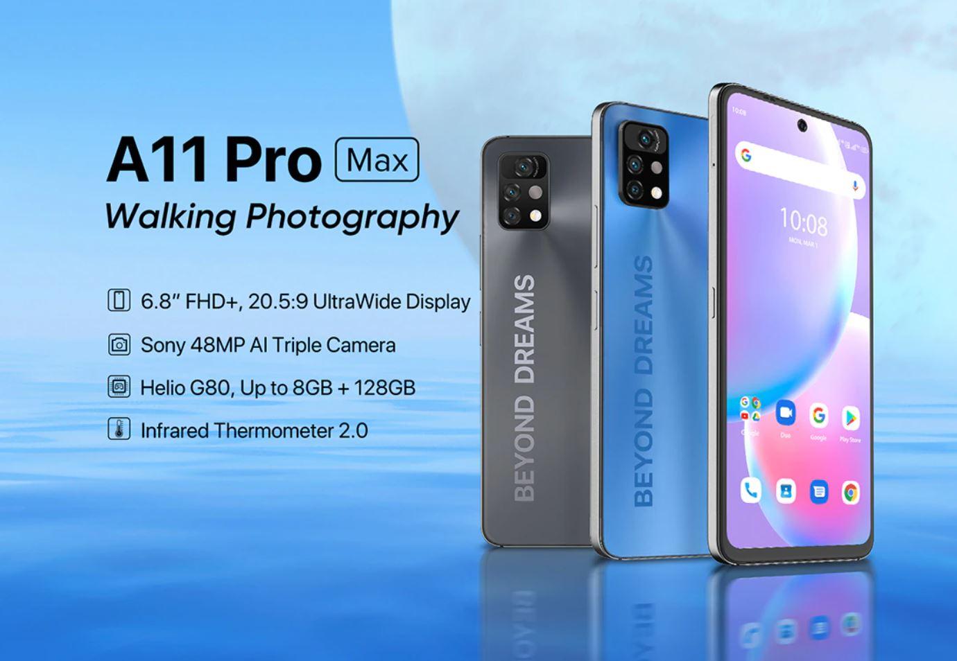 wyprzedaż smartfonów w Aliexpress na koniec wakacji - UMIDIGI A11 Pro Max