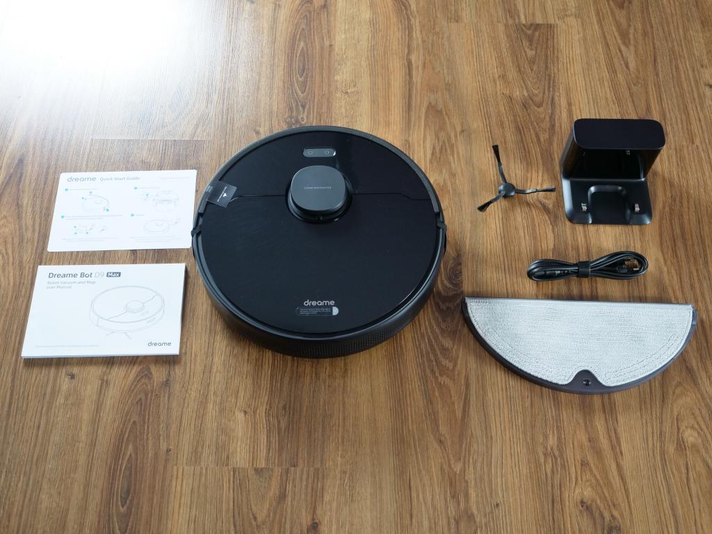 Dreame Bot D9 Max - recenzja robota sprzątającego o zwiększonej mocy - zestaw