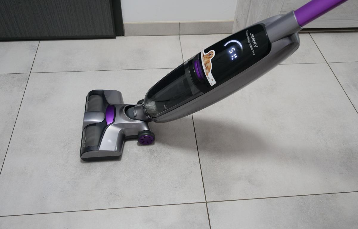 Jimmy PowerWash HW8 Pro - recenzja odkurzacza mopującego - mopowanie płytek