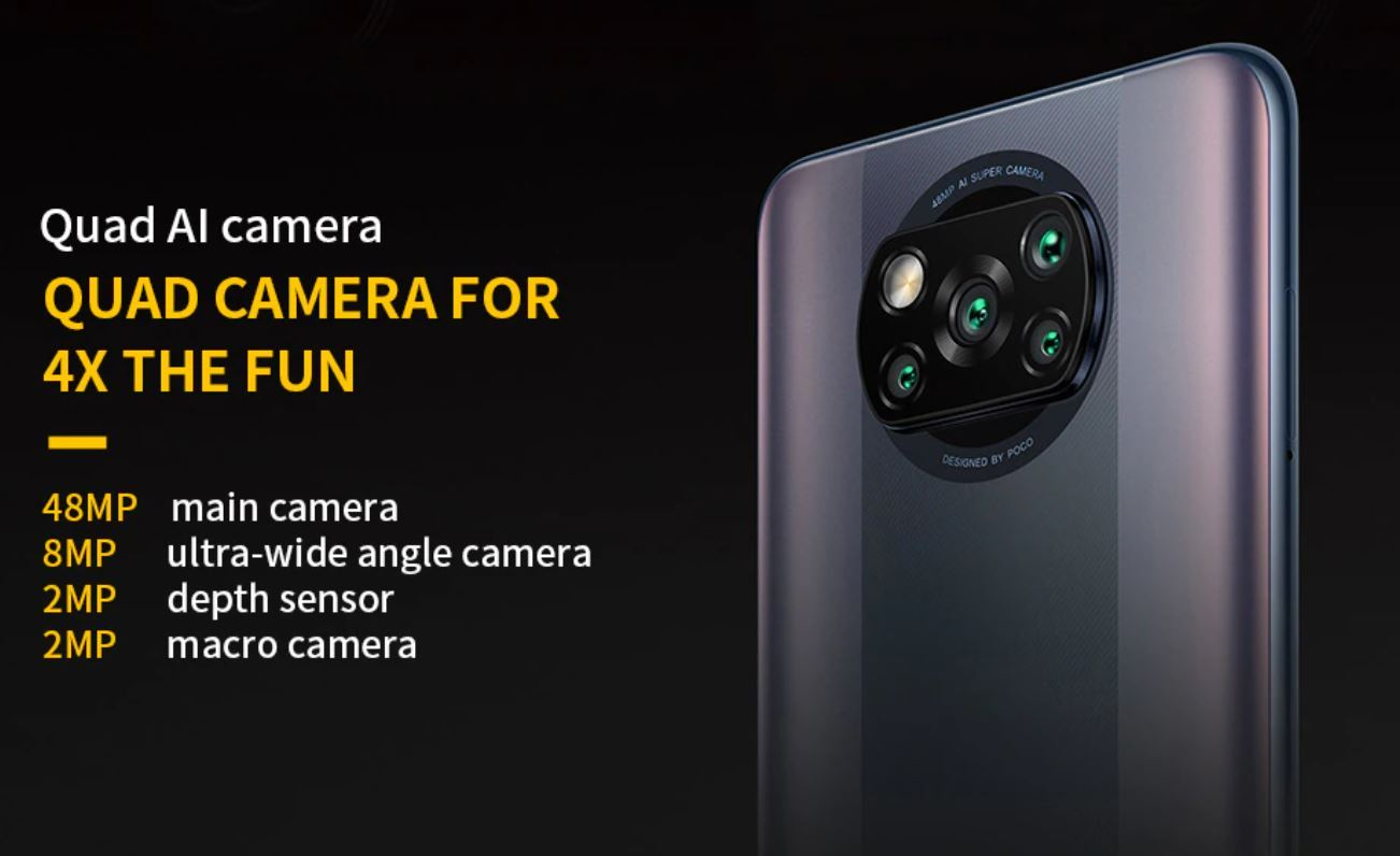Najpopularniejsze smartfony do 1000 zł w ofercie RTV Euro AGD (TOP 10) - POCO X3 Pro - kamera