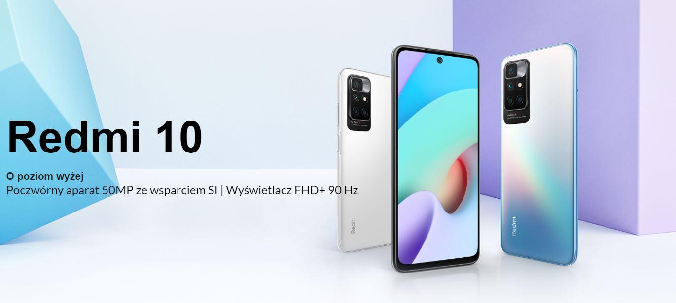 Najpopularniejsze smartfony do 1000 zł w ofercie RTV Euro AGD (TOP 10) - Xiaomi Redmi 10