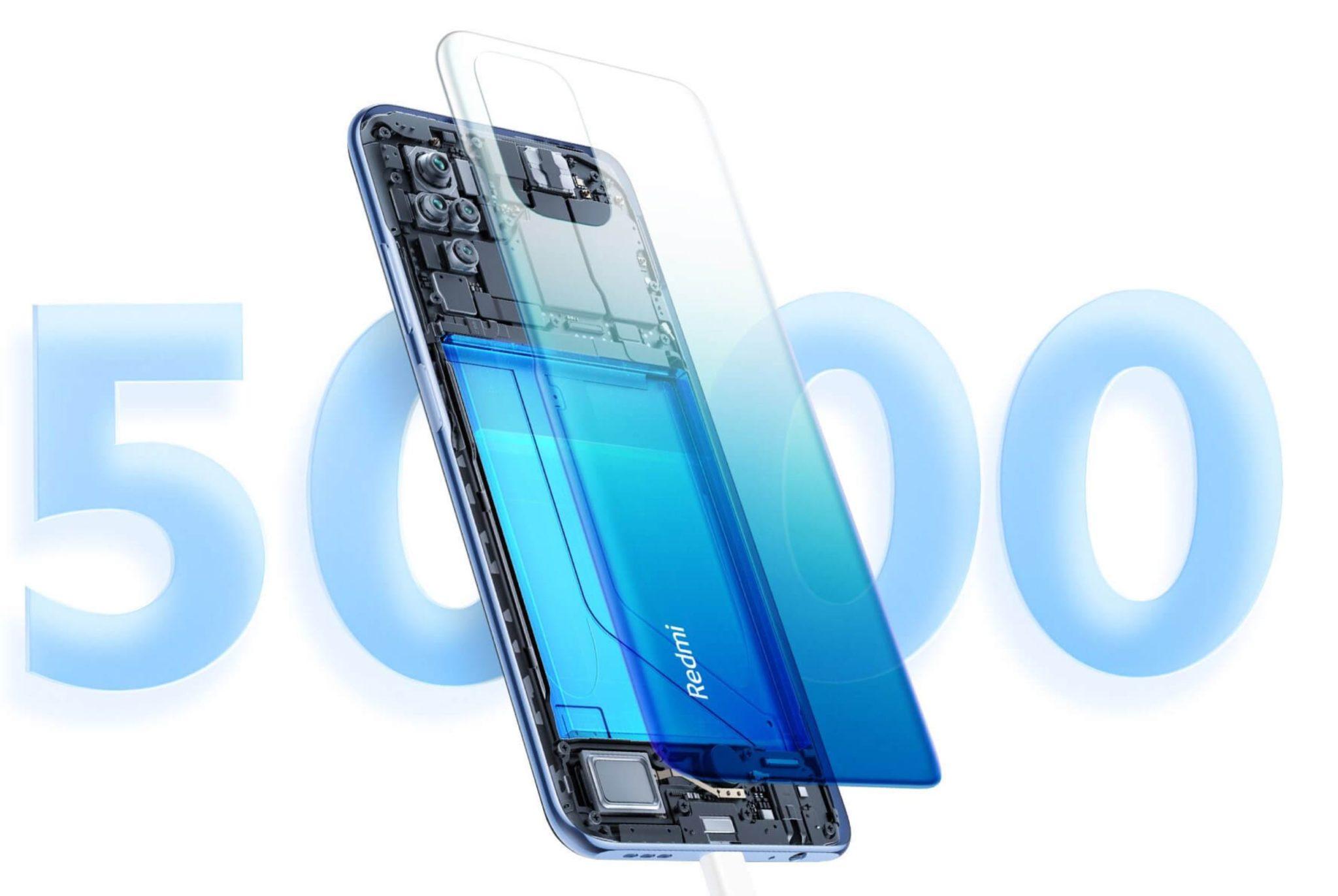 Najpopularniejsze smartfony do 1000 zł w ofercie RTV Euro AGD (TOP 10) - Xiaomi Redmi Note 10S - pojemność baterii