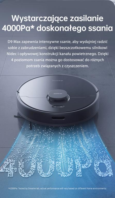 Nowy robot odkurzająco-mopujący Dreame Bot D9 Max już w sprzedaży - duża moc ssąca