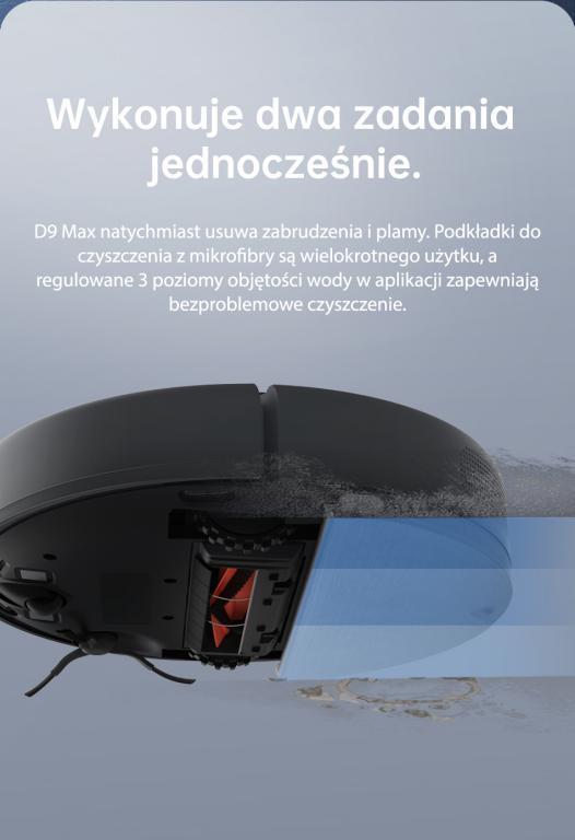 Nowy robot odkurzająco-mopujący Dreame Bot D9 Max już w sprzedaży - mopowanie