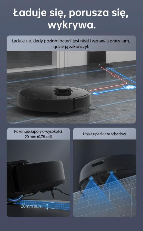 Nowy robot odkurzająco-mopujący Dreame Bot D9 Max już w sprzedaży - omijanie przeszkód
