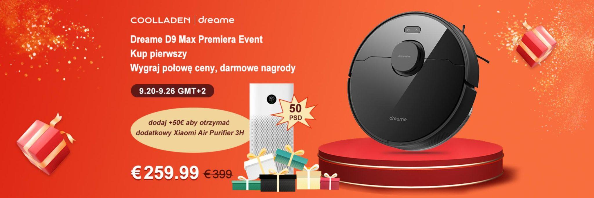 Promocja Dreame D9 Max - coolladen - banner