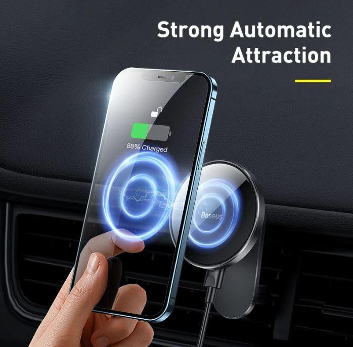 Super szybkie ładowarki do najnowszego iPhone 13 - taniej niż myślisz - samochodowa ładowarka magnetyczna Baseus