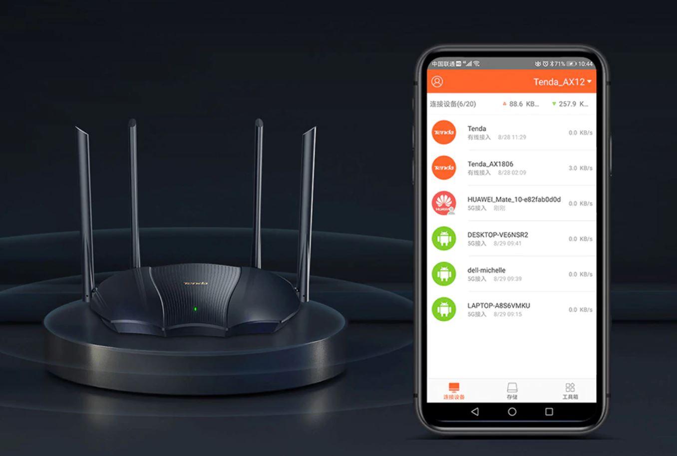 Wrześniowe premiery w AliExpress - skorzystaj z promocji - router wi-fi 6 - Tenda AX12 - obsługa przez aplikację